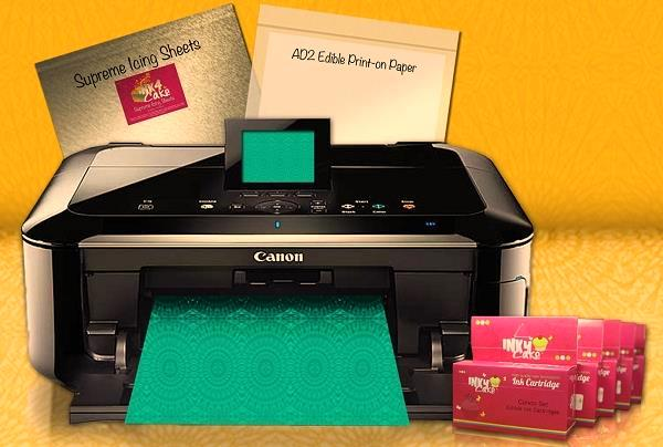 May create your own edible cake images with the canon edible printer package