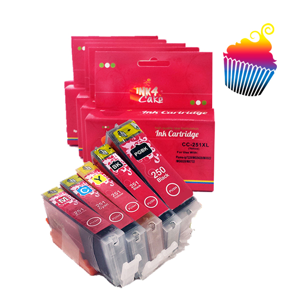 Canon Edible Ink Cartridges set 250-251XL