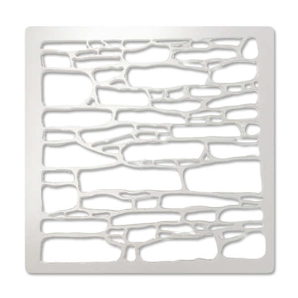 Stone Wall - Bakery Decorating Stencil - Square 5.5