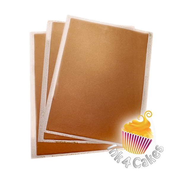Bronze - Flex Frost Metallic Icing Sheets 3 pack