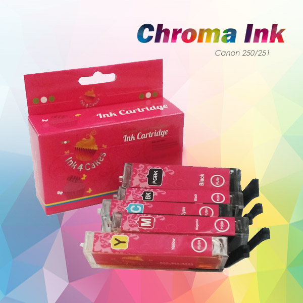 CHROMA 250XL-251XL Canon Edible Ink Cartridges