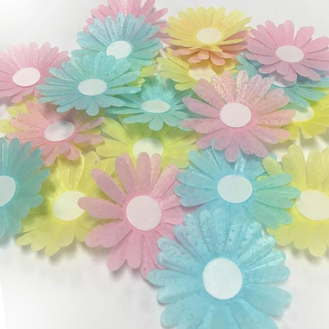 photo regarding Edible Printable Paper named Pre-lower Edible Wafer Paper Daisies