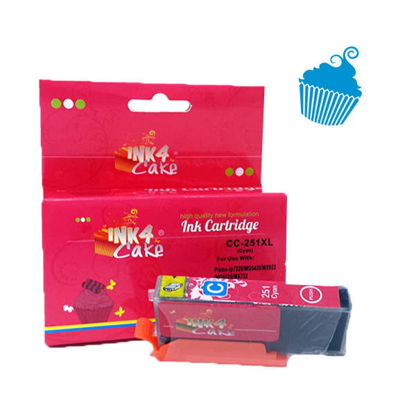 Canon Cyan Edible Ink Cartridge 251XL