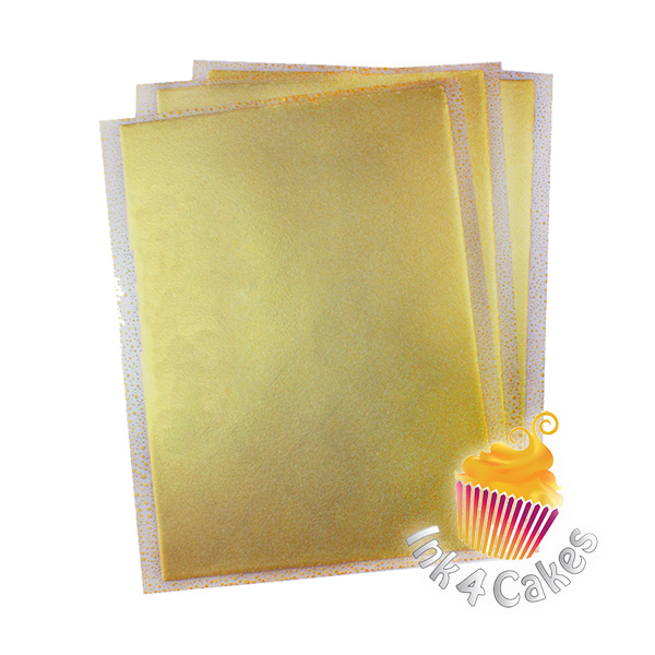 Gold- Flex Frost Metallic Icing Sheets 3 pack