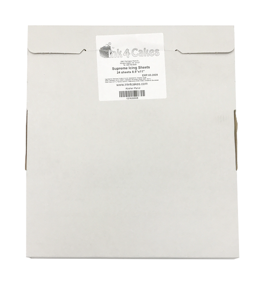 Supreme Icing Sheets 8 5x11 Letter Size 24 Pack