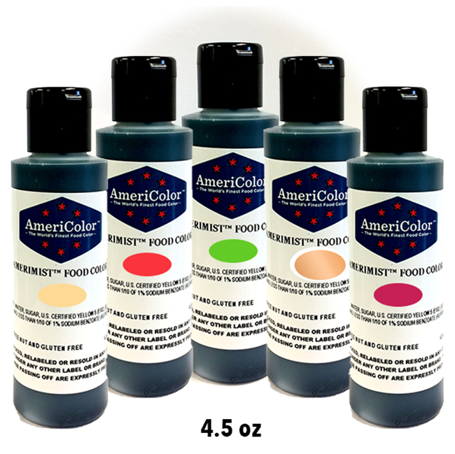 AmeriMist Airbrush Bundle Pack - Huetastic  4.5 OZ 5 Colors