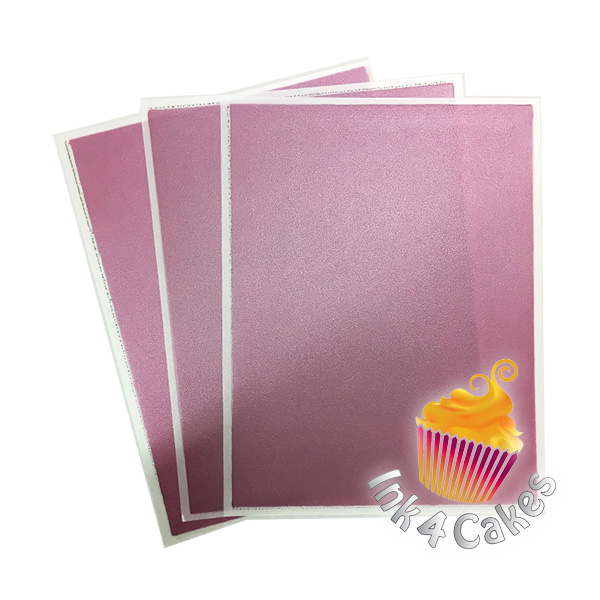 ROSE- Flex Frost Metallic Icing Sheets 3 pack