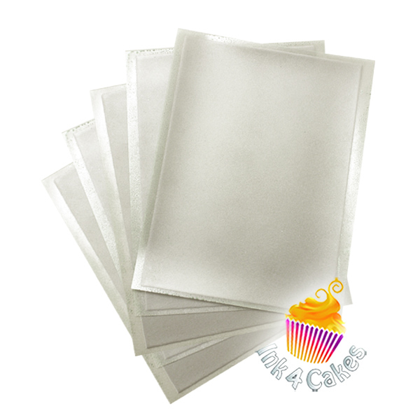 Silver- Flex Frost Sparkling Icing Sheets 10 pack