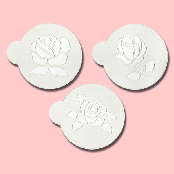 Rose - Bakery Decorating Stencils - 2.6