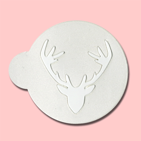 Deer Head Silhouette - Bakery Decorating Stencils - 2.6