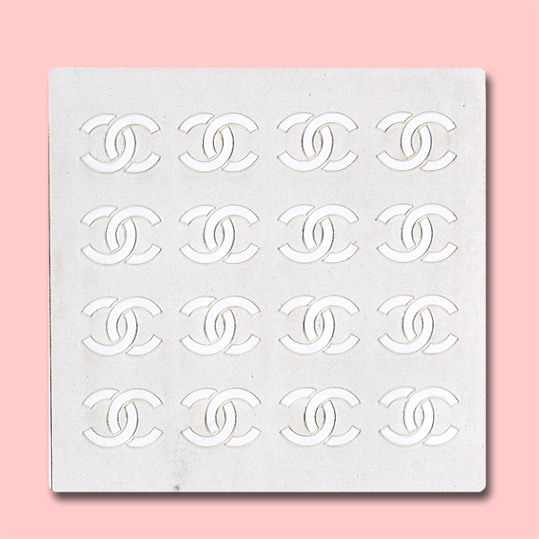 Chanel Seamless - Bakery Decorating Stencil - Square 5.5