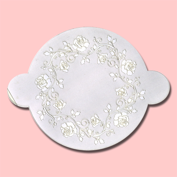 Roses - Bakery Decorating Stencil - Circle 11