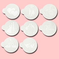 Romantic - Bakery Decorating Stencils - 2.6