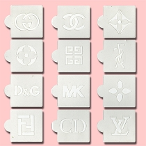 Designer Logos - Bakery Decorating Stencils - 2.6