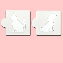Cat & Dog - Bakery Decorating Stencils - 2.6