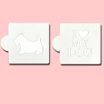 Love my Dog - Bakery Decorating Stencils - 2.6