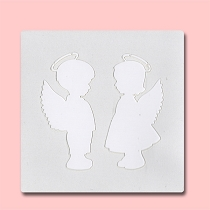 Angels -  Bakery Decorating Stencil - Square 5.5