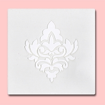 Single Damask -  Bakery Decorating Stencil - Square 5.5
