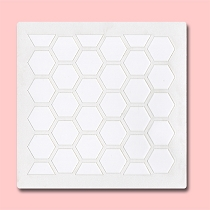 Honeycomb  -  Bakery Decorating Stencil - Square 5.5