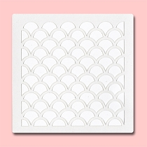 Scale Pattern - Bakery Decorating Stencil - Square 5.5