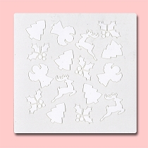 Assorted Christmas - Bakery Decorating Stencil - Square 5.5