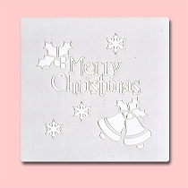 Christmas Bells - Bakery Decorating Stencil - Square 5.5