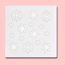 Snowflakes - Bakery Decorating Stencil - Square 5.5