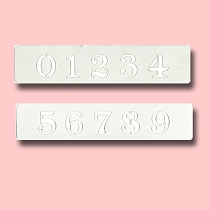 Numbers - Bakery Decorating Stencil - Rectangle 7.5