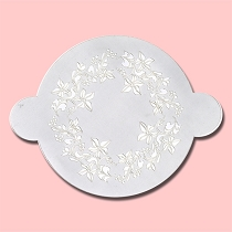 Flower Pattern Round Cake - Bakery Decorating Stencil - Circle 11