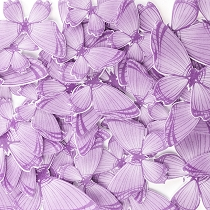Lavender Edible Wafer Paper Butterfly