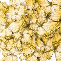 Yellow Edible Wafer Paper Butterfly