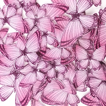 Pink Edible Wafer Paper Butterfly