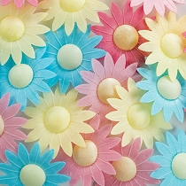 Edible Wafer Paper Flowers Mix