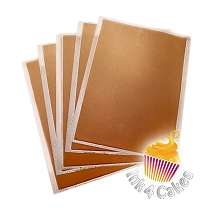 Bronze - Flex Frost Metallic Icing Sheets 10 pack