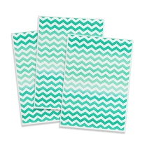 Printed Edible Wafer Paper - Green Chevron
