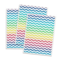 Printed Edible Wafer Paper - Chevron on white