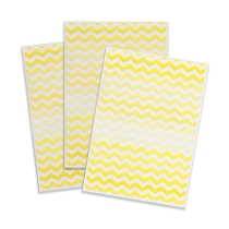 Printed Edible Wafer Paper - Yellow Chevron