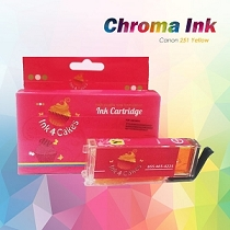 CHROMA  Canon Yellow Edible Ink Cartridge 251XL