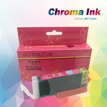 CHROMA Canon Cyan Edible Ink Cartridge 281XL