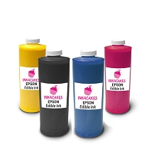 Edible ink refill for Epson - CMYK 1 liter  (34oz) set of 4 bottles