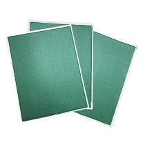 Green Metallic Flex Frost - Fabric Icing sheet -  3 pack