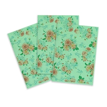 Green Printed Edible Wafer Paper - Flower Pattern