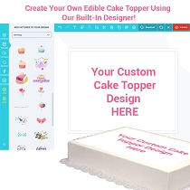 Custom Cake Topper Tabloid Size 17x11 LANDSCAPE- Customize it