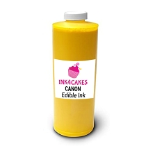 Edible ink refill for Canon- Yellow 1 liter (34oz)