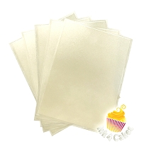 Pearl - Flex Frost Metallic Icing Sheets 12 pack