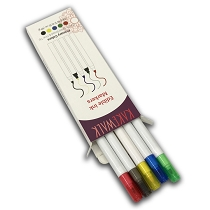Edible  Markers in Primary Colors - 5 High Quality Double Tip Edible Markers
