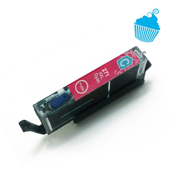 Canon edible ink REFILLABLE cartridge Cyan 271