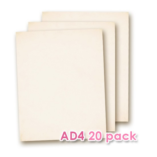Edible Wafer Paper AD4 20 Sheets Pack