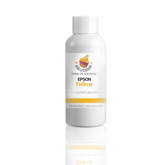 Edible ink refill for Epson - Yellow 120ml (4oz) Bottles