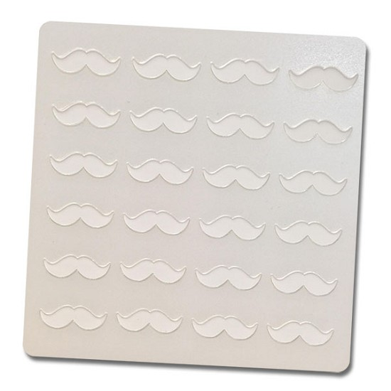 Mustaches - Bakery Decorating Stencil - Square 5.5